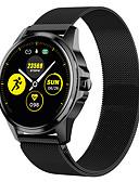 baratos Smart watch-Relógio inteligente Digital Estilo Moderno Esportivo Silicone 30 m Impermeável Monitor de Batimento Cardíaco Bluetooth Digital Casual Ao ar Livre - Preto Preto / cinza Dourado