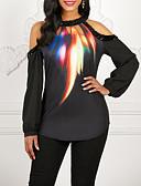 Χαμηλού Κόστους Βίντατζ Βασίλισσα-Γυναικεία T-shirt Γαλαξίας Μαύρο