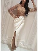 baratos Vestidos de Mulher-Mulheres Básico Bainha Vestido Estampa Colorida Longo