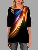 povoljno Majica s rukavima-Majica s rukavima Žene Dnevno Geometrijski oblici Crn