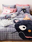 billige Etuier/deksler til Huawei-tegneserie flanell dynetrekk sett dronning sengetøy dekselsett gutter jenter dyne dyne dekselsett luksus myk dronning dynetrekk sett