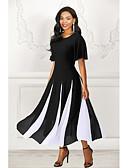 Χαμηλού Κόστους Γυναικεία Φορέματα-Γυναικεία Γραμμή Α Φόρεμα - Ριγέ Μακρύ
