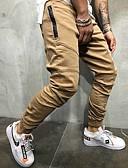 baratos Calças e Shorts Masculinos-Homens Básico Calças Esportivas Calças - Sólido Preto Verde Khaki M L XL