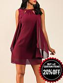 Χαμηλού Κόστους Φορέματα NYE-Γυναικεία Θήκη Φόρεμα - Μονόχρωμο Μίνι