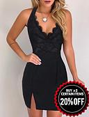 baratos Mini Vestidos-Mulheres Sensual Tubinho Vestido - Guarnição do laço, Floral Com Alças Acima do Joelho