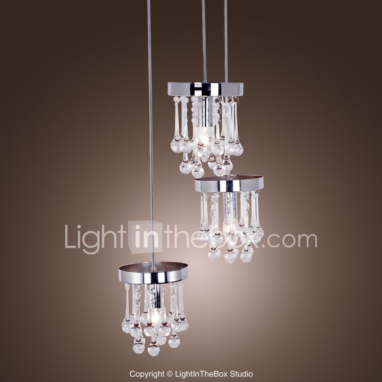 Pendant Light Chandeliers Lighting S036021300006 Wh Lightinthebox 40w Modern Crystal Pendant Light Simple Style Modern Home Ceiling Light Fixture Flush Mount Pendant Lights