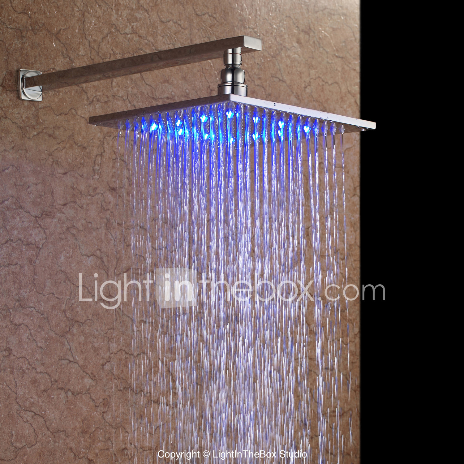Contemporary Rain Shower Nickel Brushed Feature Rainfall
