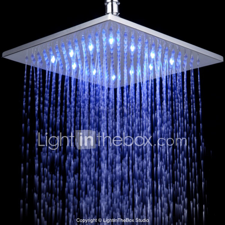 Contemporary Rain Shower Chrome Feature For Rainfall Led Shower Head