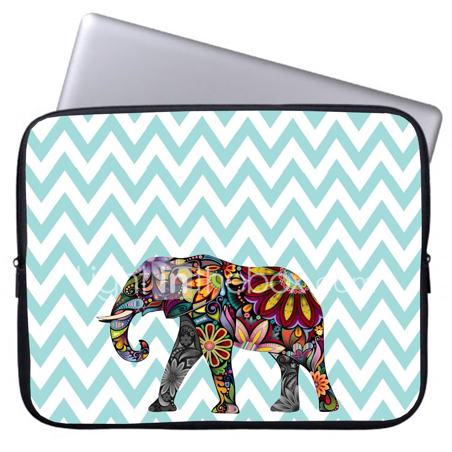 Briefcase Laptop Bag for Men African Ethnice Tattoo Elephant Multi-Functional Briefcases Laptop Fit for 15 Inch Computer Notebook MacBook