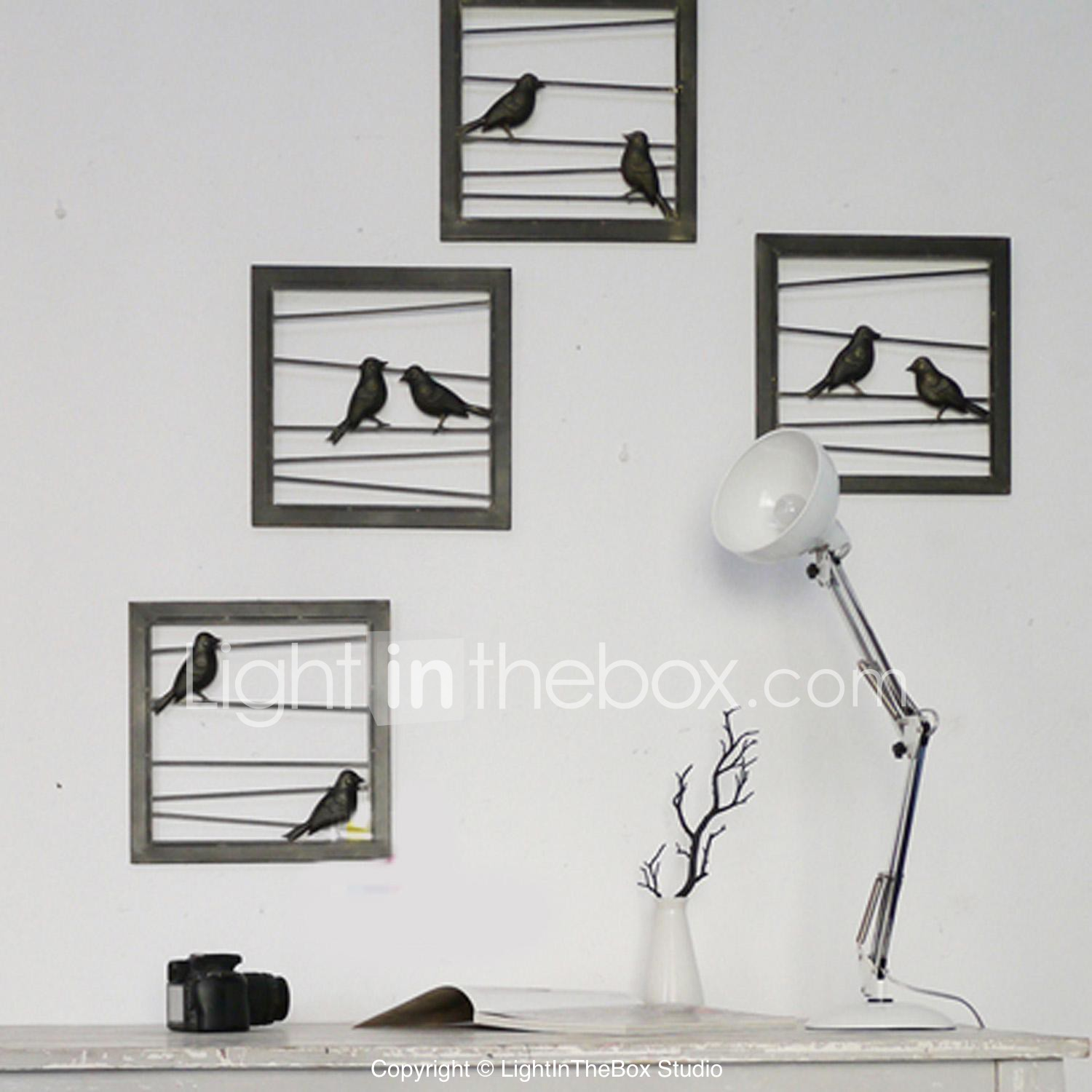 E Home Metal Wall Art Decor Black Birds