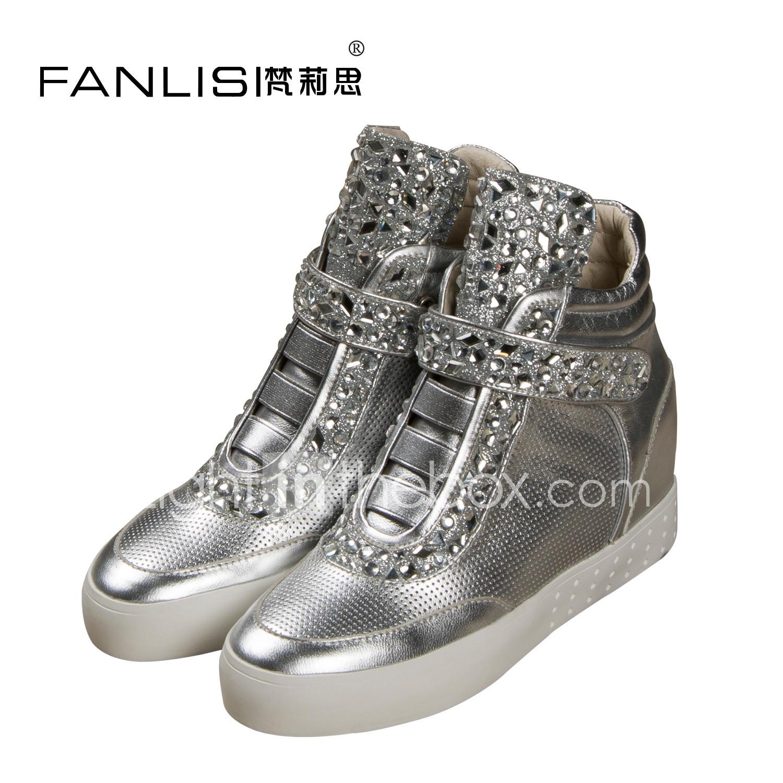 Designer Shoes High Leather Velcro