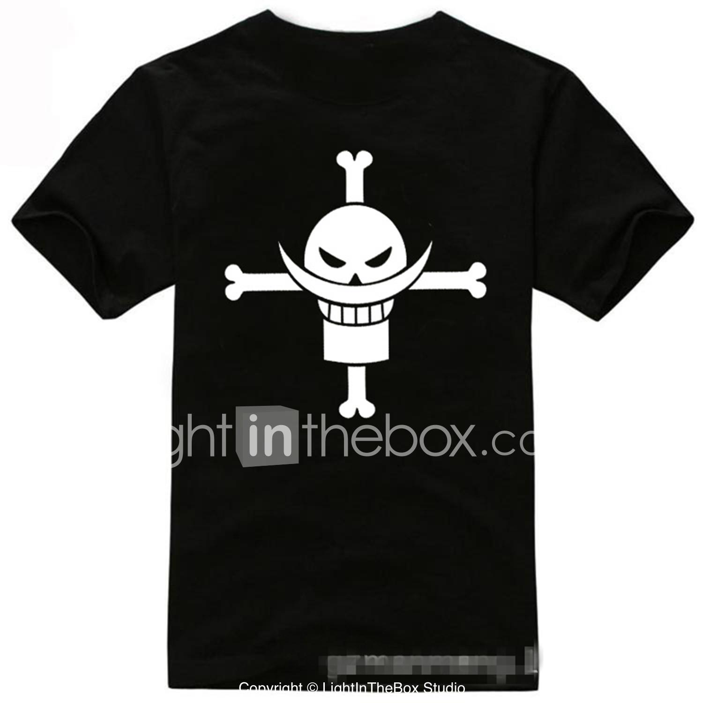 Women Men Ox-eyed Luffy One Piece Anime Print Casual 3D T-Shirt Short Sleeve Tee