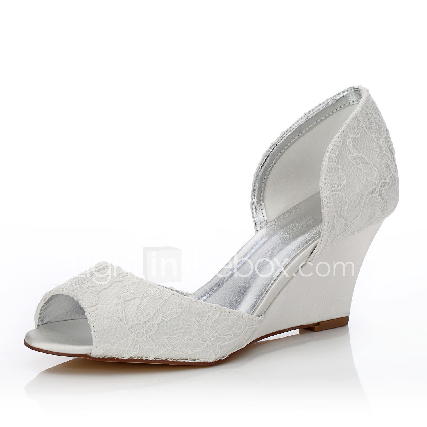 Women S Silk Spring Summer Comfort Dyeable Shoes Wedding Shoes