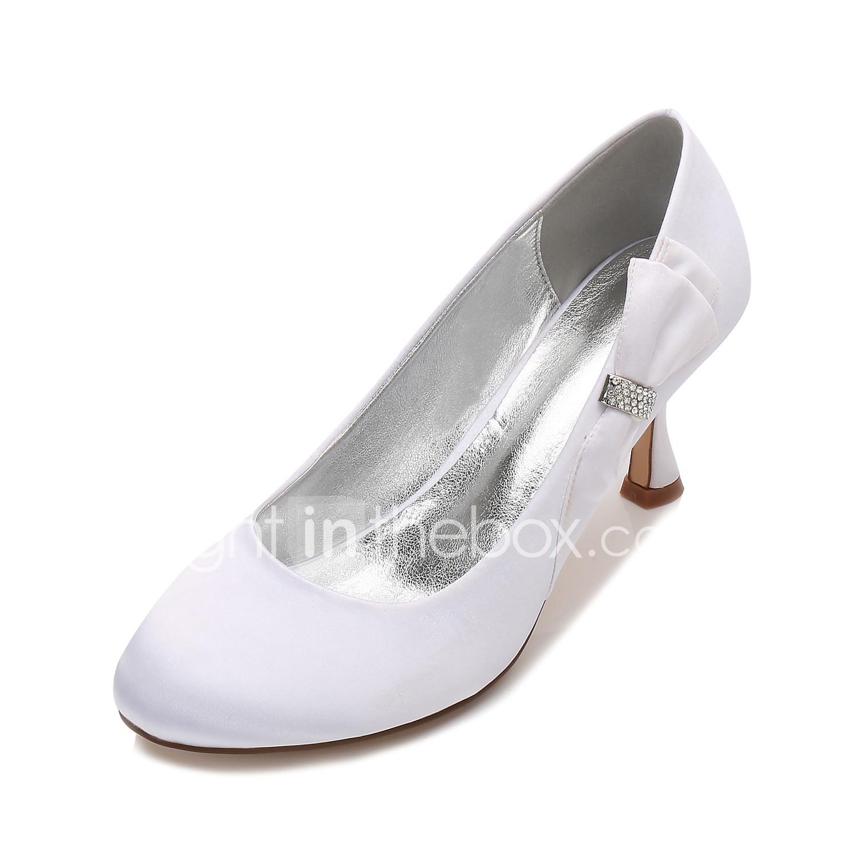 Women S Wedding Shoes Kitten Heel Low Heel Stiletto Heel Round
