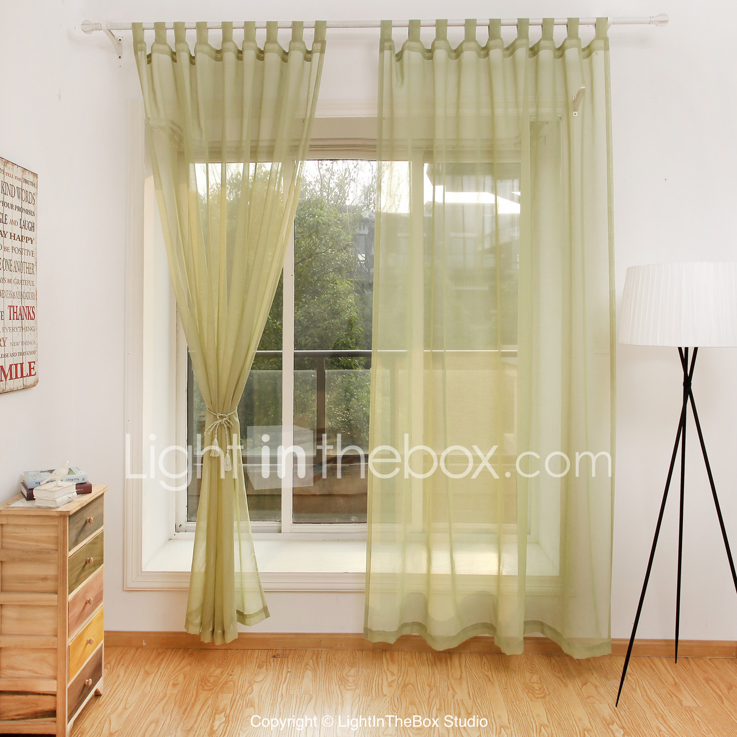 Contemporary Curtains Drapes Sheer Two Panels Living Room ...