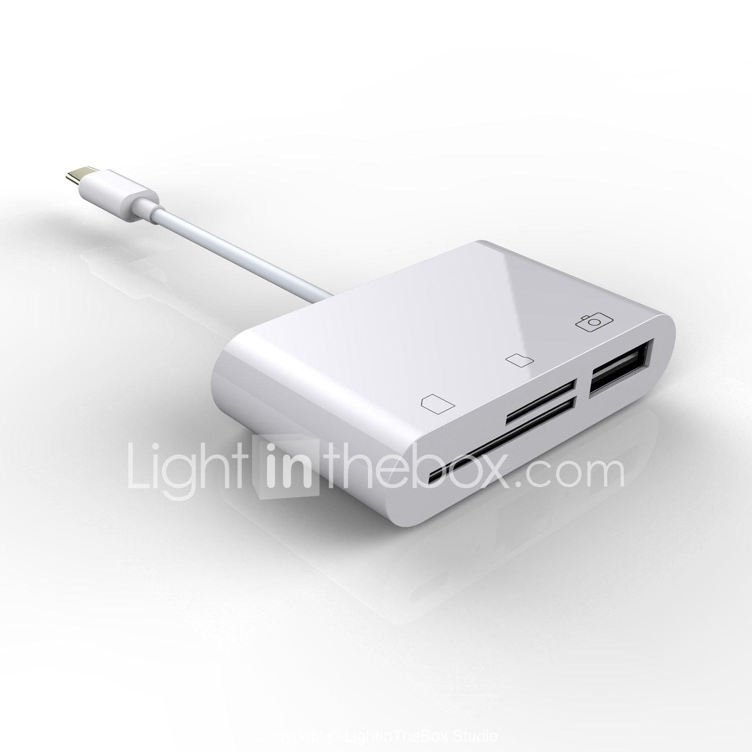 3in 1 USB 3.1 Type C Micro USB SD TF Memory Card Reader OTG Adapter for MacBook