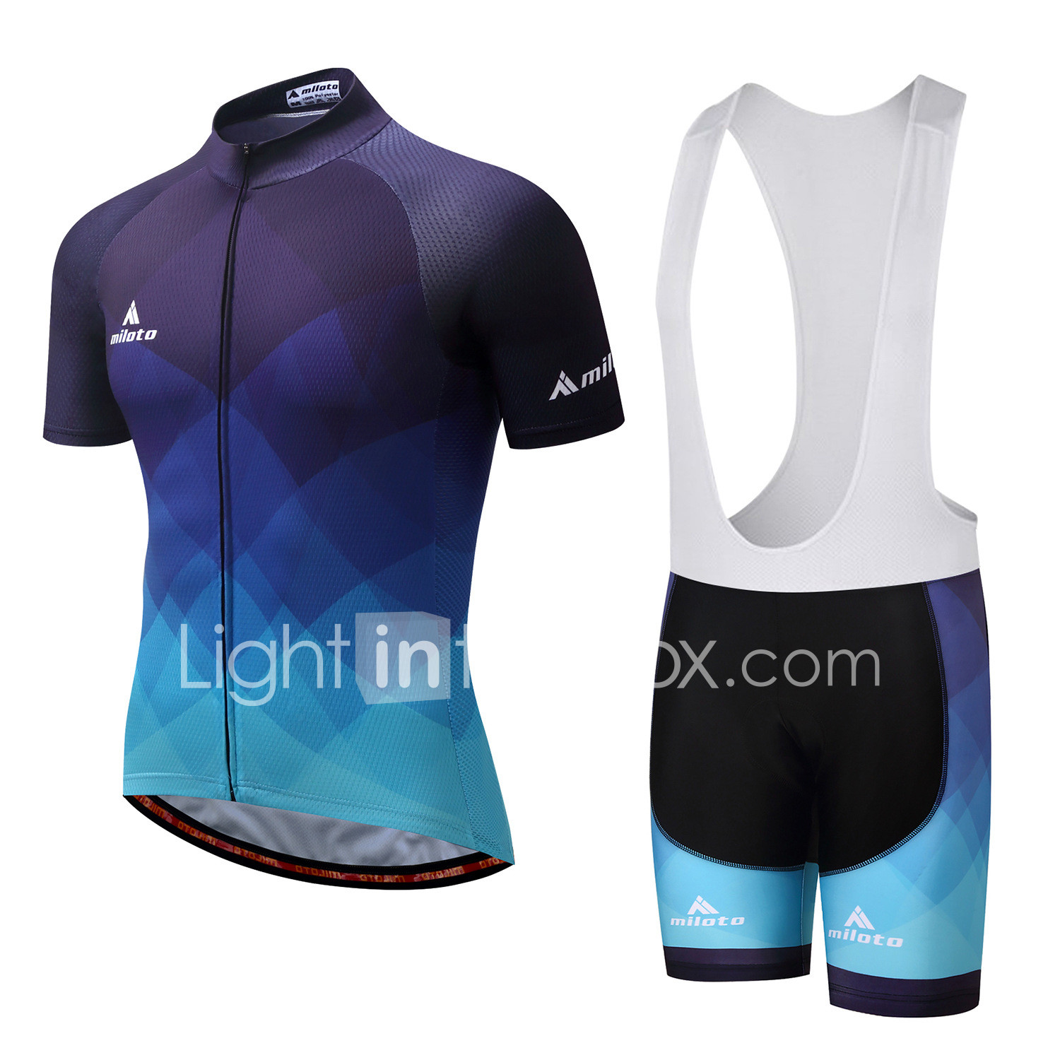 White Color Quick Dry Breathable Men Cycling Jersey And Short Set OR Jersey Only