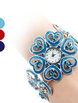 abordables -la mujer aleación analógico reloj pulsera de cuarzo (colores surtidos)
