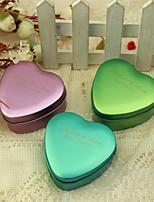 personalizar coração caixa de favor metal em forma - pequeno (conjunto de 24)