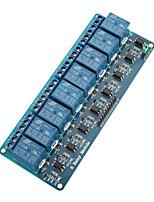 Module de relais 5v à 8 canaux pour (pour arduino) (fonctionne avec les cartes officielles (pour arduino))