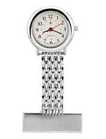Недорогие -Жен. нагрудные часы Кварцевый Серебристый металл