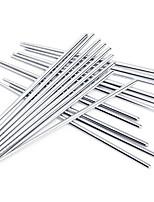 abordables -antidérapants baguettes en acier inoxydable de haute qualité (3 paires)