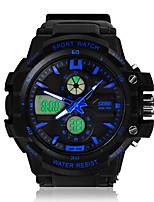 Недорогие -Муж. Спортивные часы Будильник Защита от влаги LED Аналого-цифровые Белый Оранжевый Синий