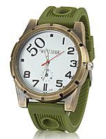 baratos -Homens Relógio Militar Quartzo Preta / Azul / Marrom Analógico Marron Vermelho Azul