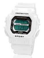 Недорогие -Муж. Спортивные часы Цифровой Черный / Белый / Оранжевый ЖК экран Цифровой Белый Черный Оранжевый