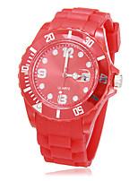 Недорогие -Муж. Спортивные часы Японский Кварцевый Белый / Красный Мода Аналоговый На каждый день - Красный
