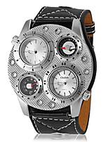 baratos -Homens Relógio Militar Quartzo Preta Analógico Preto Prata