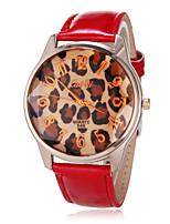 Недорогие -Женская Аналоговый горный хрусталь круглый циферблат PU Группа Кварцевые аналоговые наручные часы