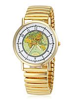 Недорогие -Женская Земля Карта Pattern Упругие Золото сплава группы кварцевые наручные часы