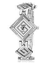 abordables -Mujer Simulado Diamante Reloj Japonés Cuarzo Rosa Oro Plateado Banda Elegant Plata Dorado