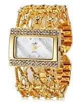 Недорогие -Женская Элегантный Diamante квадратный корпус стальной ленты кварцевые наручные часы