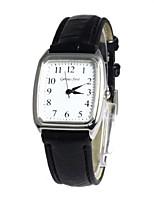 Недорогие -Женская Rectangle набора Кожаный ремешок Кварцевые наручные часы