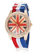 Недорогие -Мужская Великобритания Pattern Государственного флага Стиль Ткань браслет кварцевые наручные часы (разных цветов)