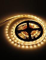 Недорогие -5 метров 300 светодиоды 3528 SMD Тёплый белый 12 V / IP44