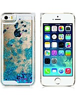 cheap -Case For iPhone 5 Apple iPhone 5 Case Flowing Liquid Back Cover Glitter Shine Hard PC for iPhone SE/5s iPhone 5