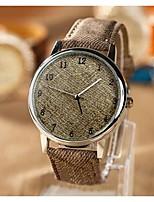 Недорогие -Женские Cowboy Холст Наберите PU Группа Кварцевые аналоговые наручные часы (разных цветов)