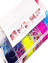 Недорогие -радуга красочные ткацкий станок DIY многоцветной резинкой (1200 шт) и разъем
