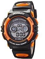 Недорогие -Жен. Кварцевый Стеганная ПУ кожа Черный 30 m Спортивные часы Цифровой Оранжевый Желтый Красный