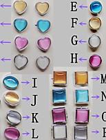 Feminino Brincos Curtos Pedras preciosas sintéticas Liga Jóias Para Casamento Festa Diário Casual