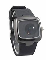Недорогие -Муж. Спортивные часы Уникальный творческий часы Кварцевый Японский кварц силиконовый Черный 30 m Защита от влаги Аналоговый