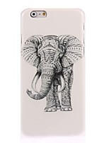 baratos -Capinha Para Apple iPhone 6 iPhone 6 Plus iPhone 7 Plus iPhone 7 Estampada Capa traseira Elefante Rígida PC para iPhone 7 Plus iPhone 7
