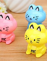 cheap -Cat Shaped Manual Pencil Sharpener(Random Color)