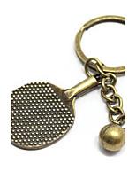 Vintagev table tennis Bronze Alloy Keychain(1 Pc)