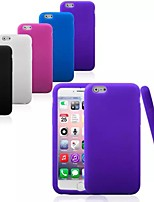 abordables -Para Funda iPhone 6 / Funda iPhone 6 Plus Antigolpes Funda Cubierta Trasera Funda Un Color Suave SiliconaiPhone 6s Plus/6 Plus / iPhone
