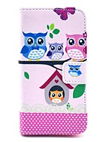 cheap -COCO FUN® Lovely Owl Family Pattern PU Leather Case with Film and Stylus for Sony Xperia Z1 mini Compact D5503