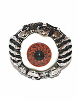 Halloween Grotesque Gothic Skulls Silver Alloy Men's Statement Eye Ring(1 Pc)